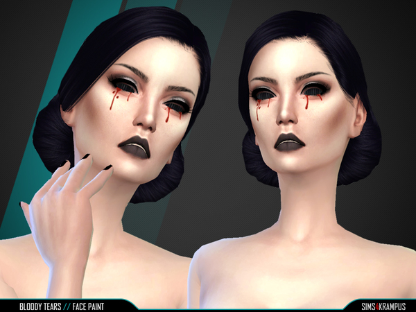 Bloody Tears Face Paint by SIms4Krampus