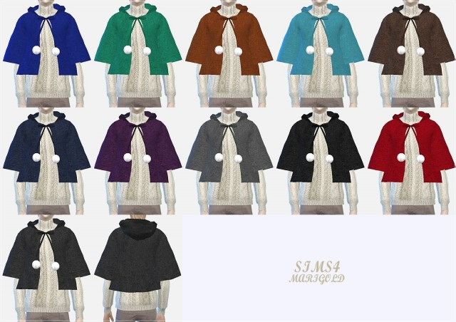 male hood cape coat by Marigold