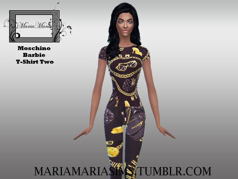 Moschino Barbie T-Shirt Two BY MariaMariaSims