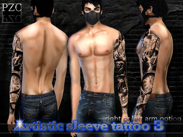 Artistic Full Sleeve Tattoo 3 by Pinkzombiecupcakes