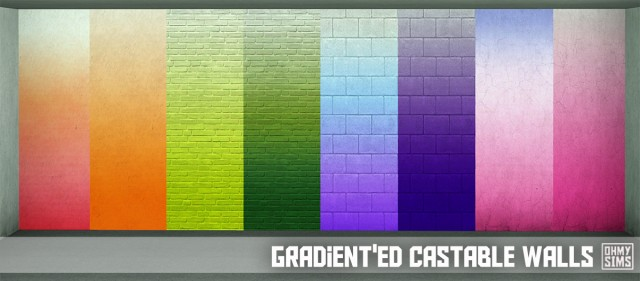 Gradiented Castable Walls by ohmysims