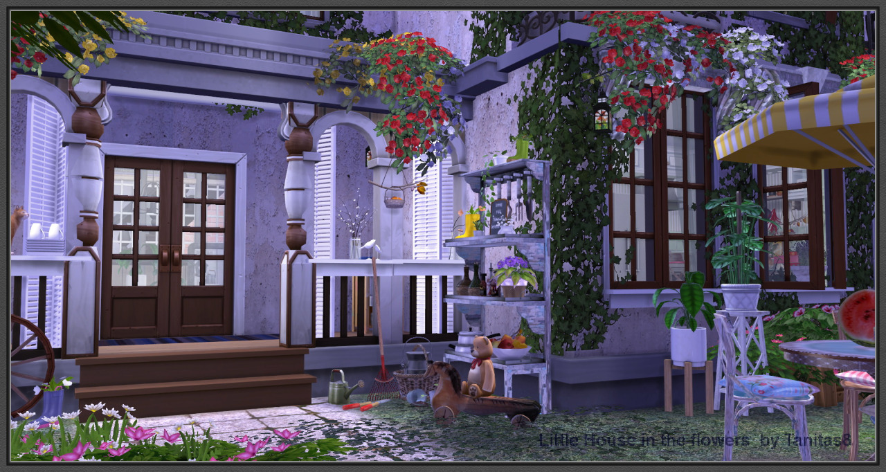 Little House in the Flowers by Tanitas8