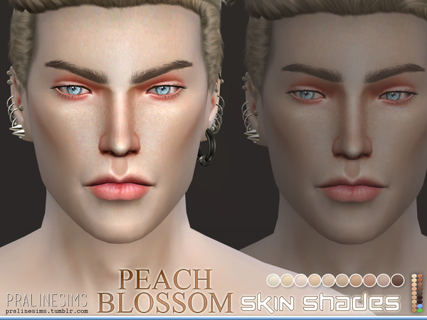 Beach Blossom Skin Shades by Pralinesims