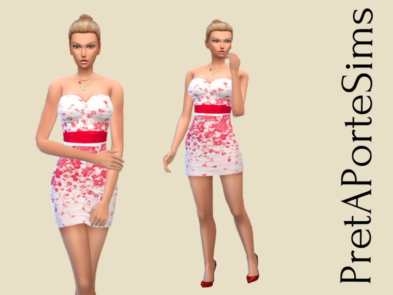 Short white dress by PretAPorteSims