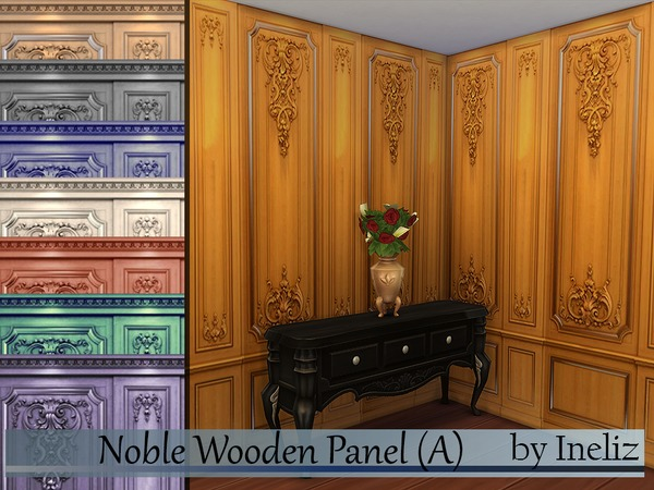 Noble Wooden Panel (A) by Ineliz