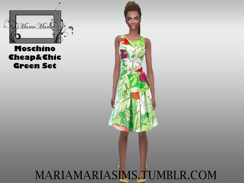 Moschino Cheap&Chic Green Set BY MariaMariaSims