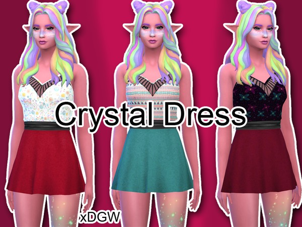 xDeadGirlWalking Crystal Dress