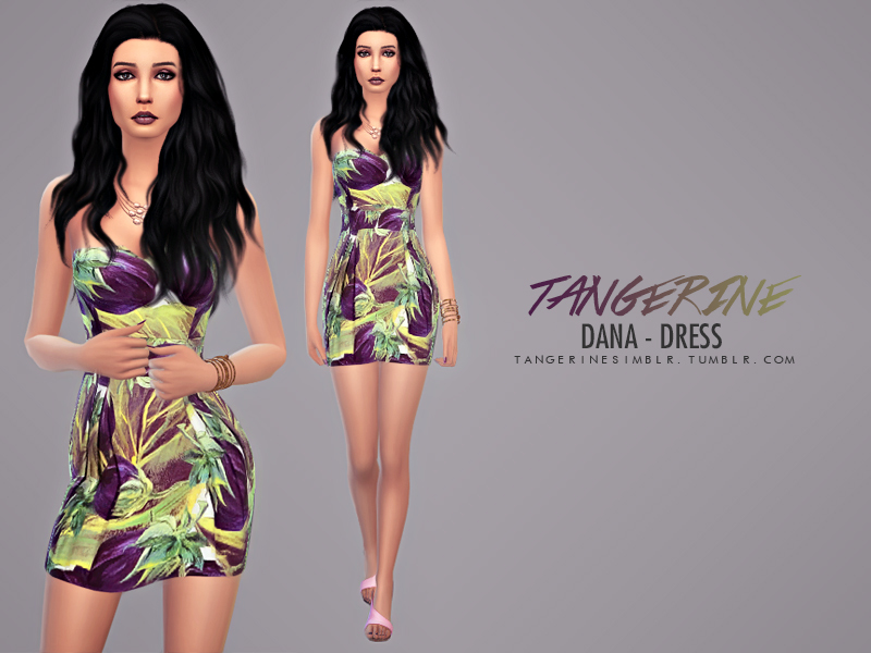Dana - Dress BY tangerinesimblr