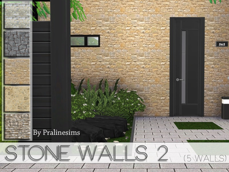 Stone Walls 2  BY Pralinesims