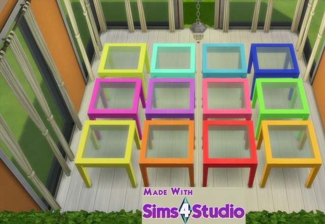 Dining Table and Chair Set in 12 Fluro Colours by wendy35pearly