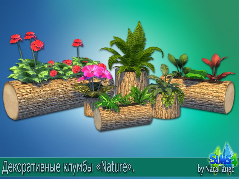 Nature Flower Beds by Natatanec