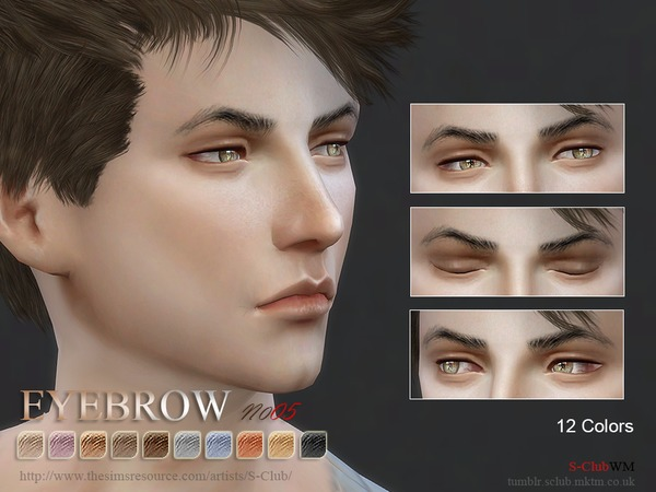 S-Club WM thesims4 Eyebrows 05M