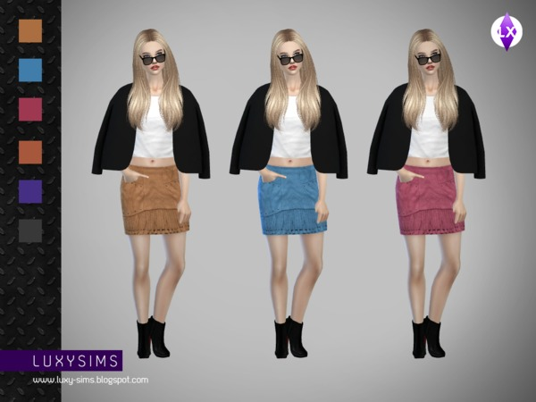 Fringed Skirt by LuxySims3
