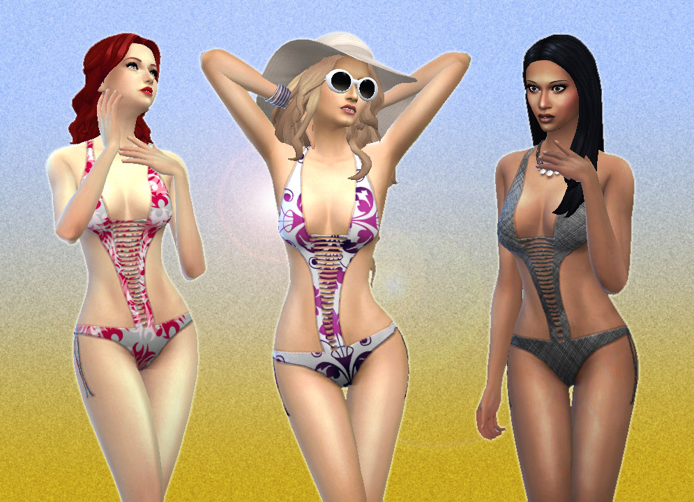 Swimsuit in 10 Colors for Teen - Elder Females by Kiara24