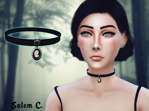 Choker with medallion by Salem C