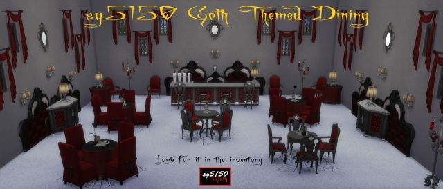 TS3 Goth Themed Dining Set by sg5150