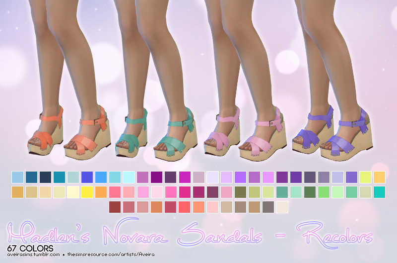 Madlens Novara Sandals in 67 Recolors by AveiraSims