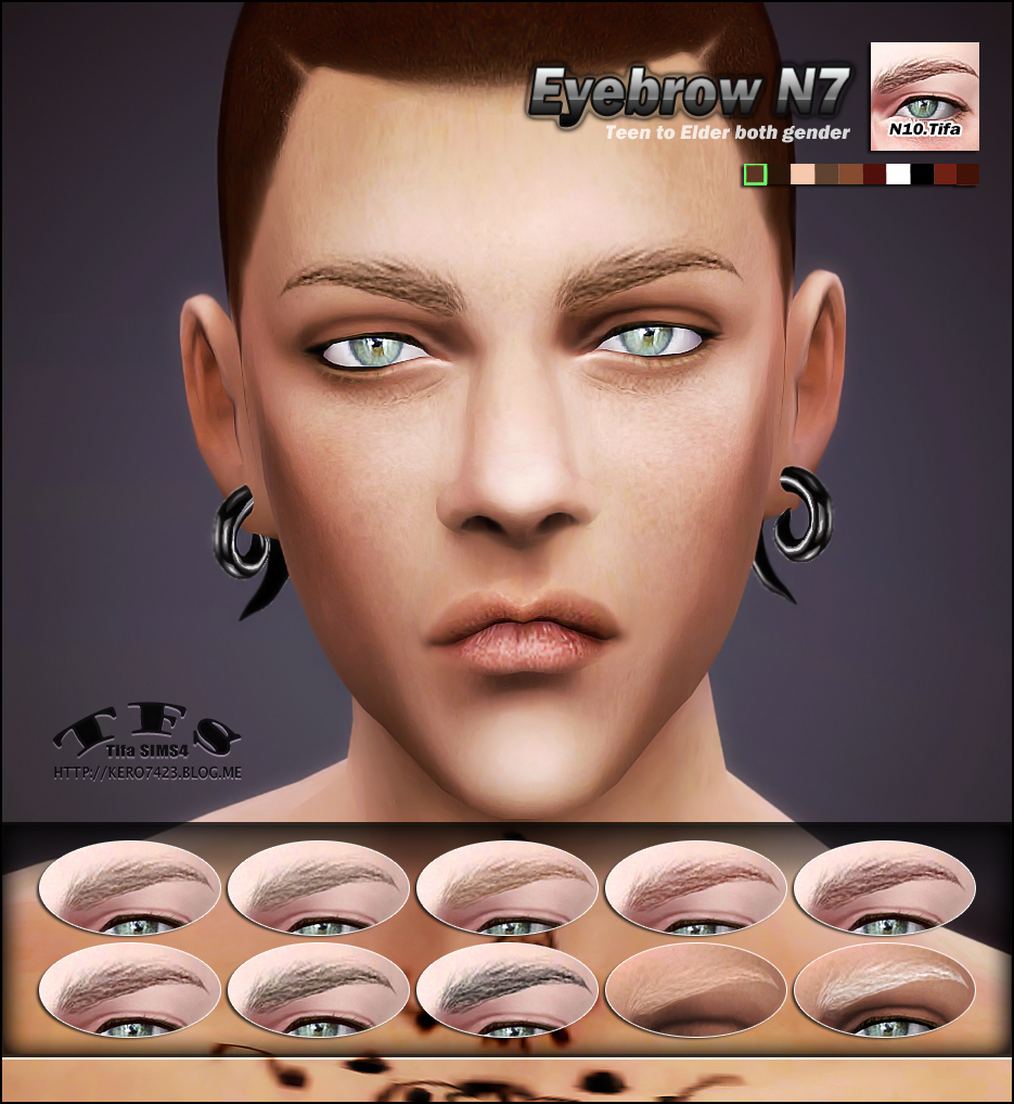 Eyebrows N7 for Males & Females by Tifa