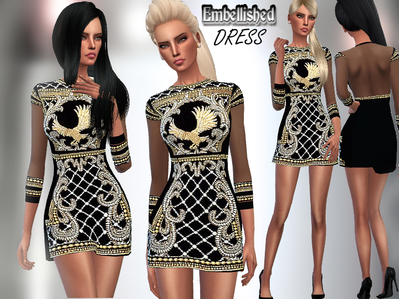 Embellished Dress BY Puresim