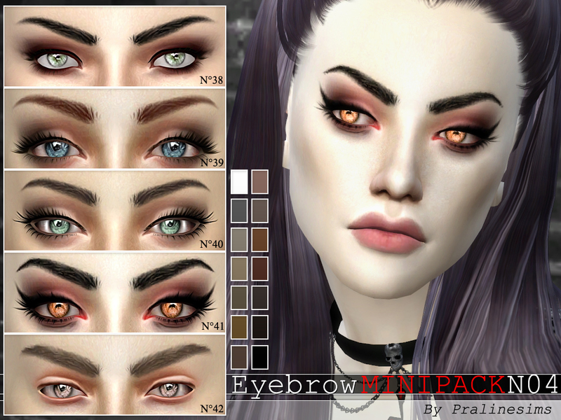Eyebrow Minipack ~ 5 Eyebrows  N04 BY Pralinesims