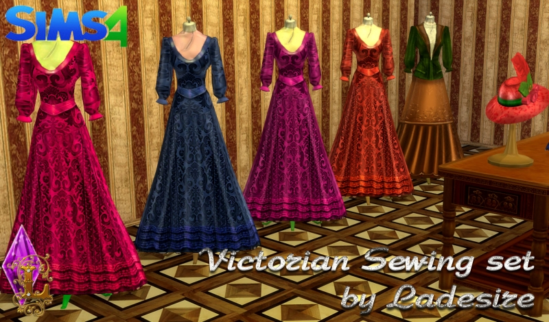 Victorian Sewing Set by Ladesire