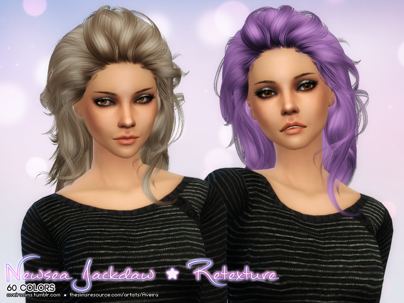 Newsea Jackdaw Hair Retexture by AveiraSims