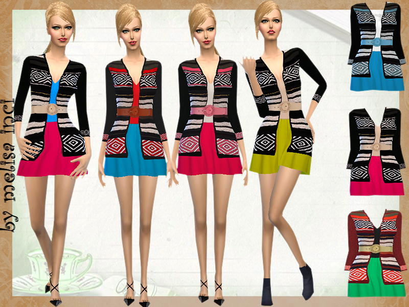 Dress With Cardigan Jacket  BY melisa inci