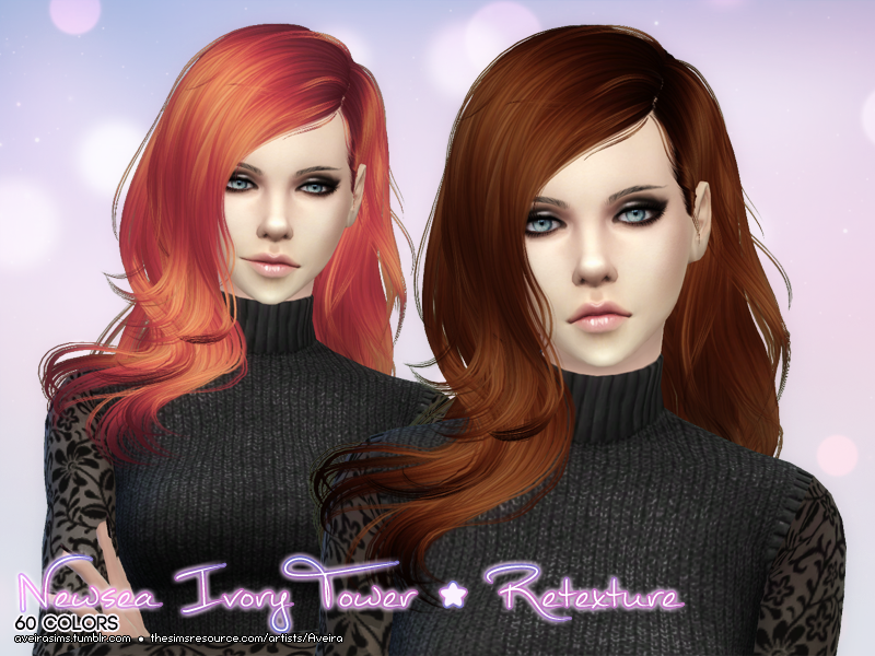 Newsea Ivory Tower Hair Retexture in 60 Colors by Aveira