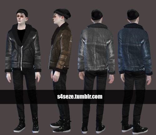 Shearling Jacket for Males by S4Seze