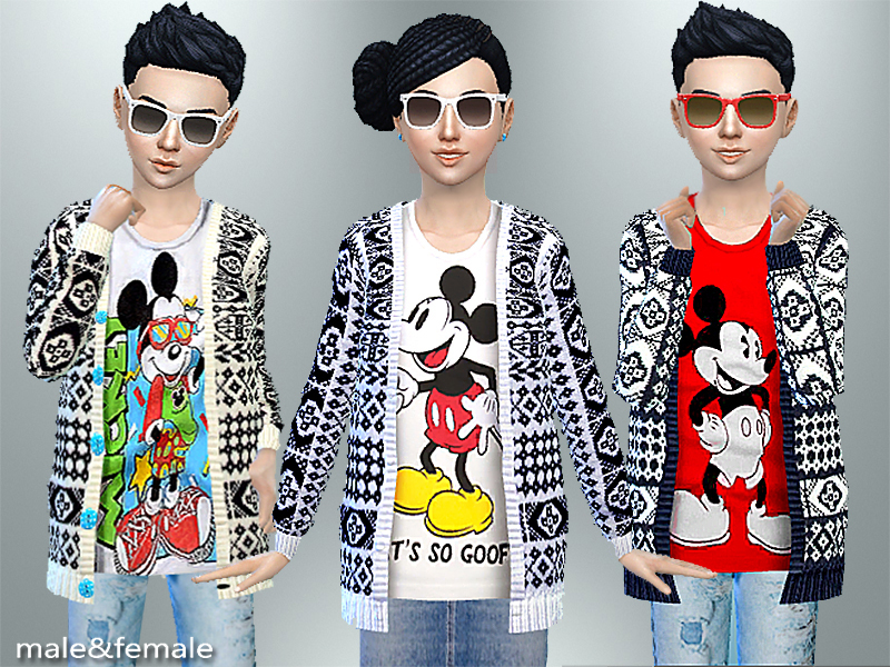 PZC_Mickey Mouse Fall Cardigan  BY Pinkzombiecupcakes