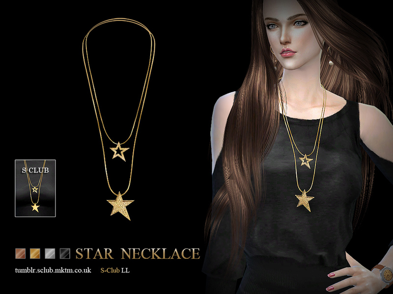 LL ts4 necklace N05  BY S-Club