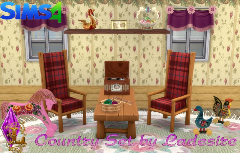 VitaSims' Country Set Decor (101 предмет) by Ladesire