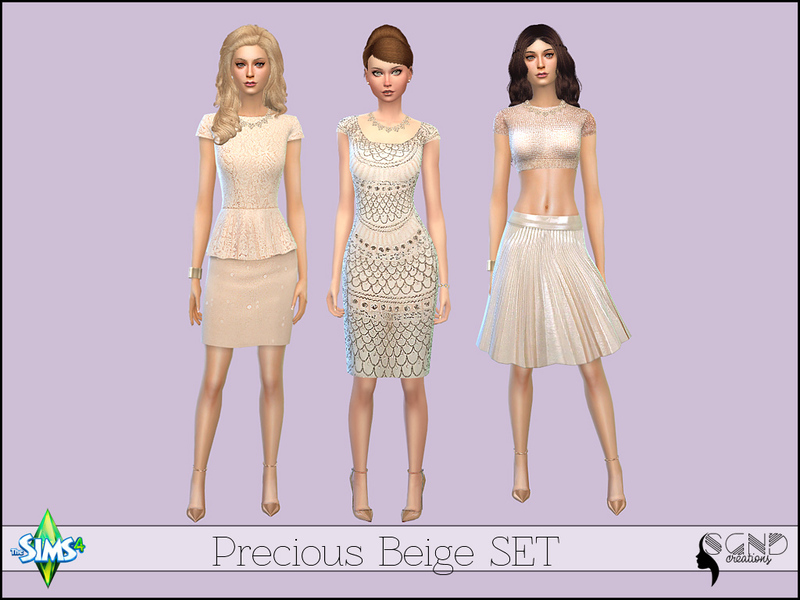 Precious Beige Set  BY SimGirlNextDoor