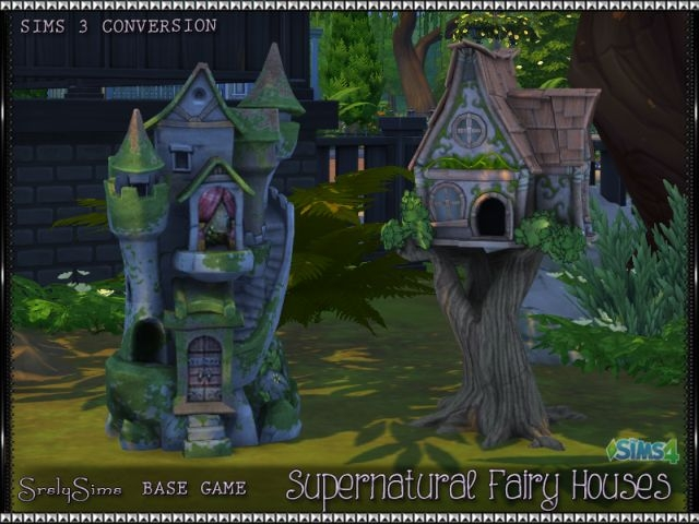 TS3 Supernatural Fairy Houses Conversion by SrslySims