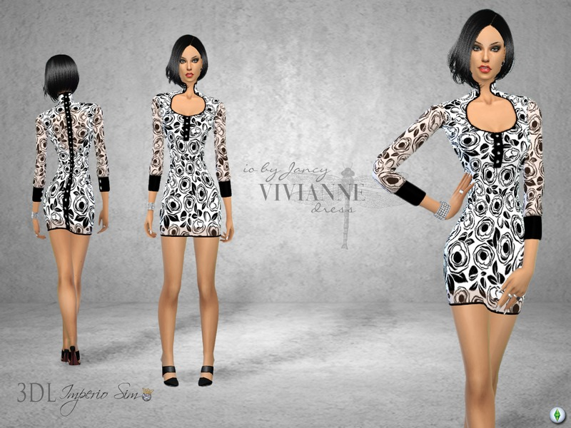 3DL Imperio Sim- iO by Jancy- Vivianne Dress BY eddielle