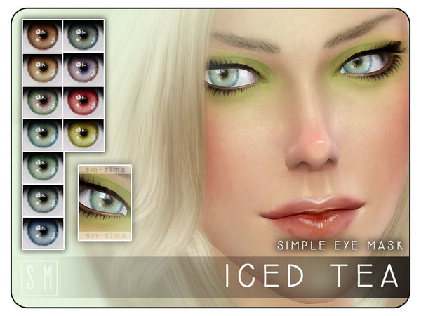 [ Iced Tea ] - Simple Eye Mask by Screaming Mustard