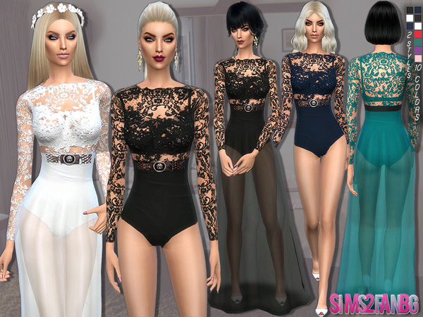 88 - 2 in 1 - dress and bodysuit by sims2fanbg