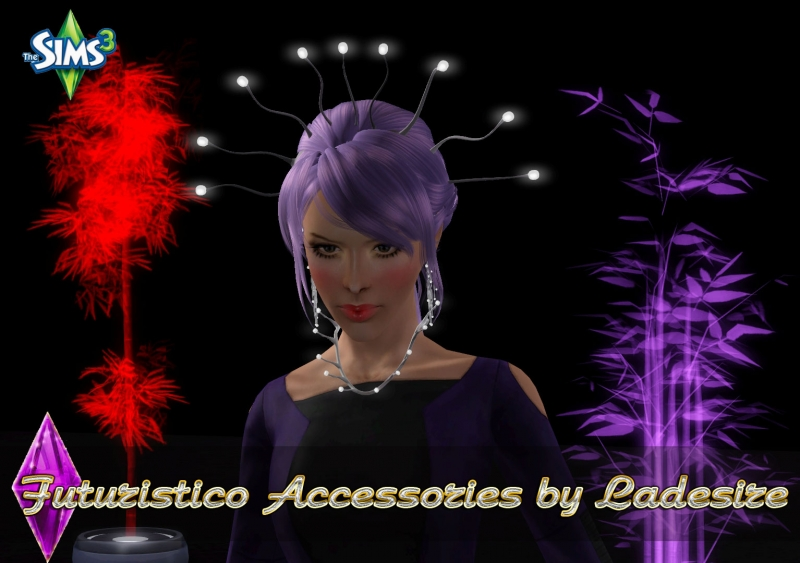 Futuristica Glow Accessories Set by Ladesire