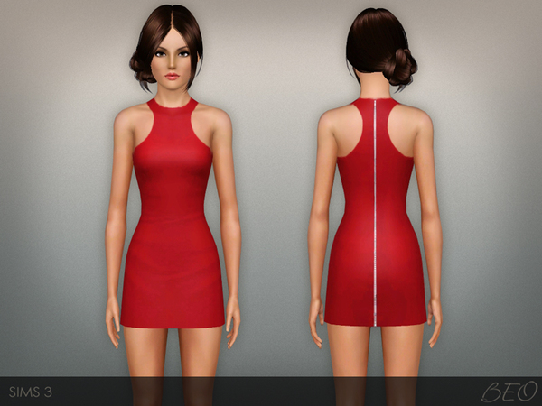 Zip back mini dress by BEO