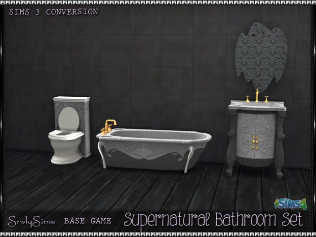 TS3 Supernatural Bathroom Conversions by SrslySims