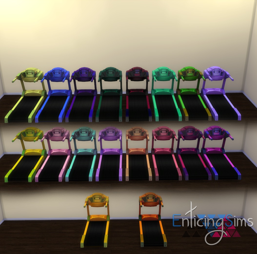 Treadmill in 58 Recolors by EnticingSims