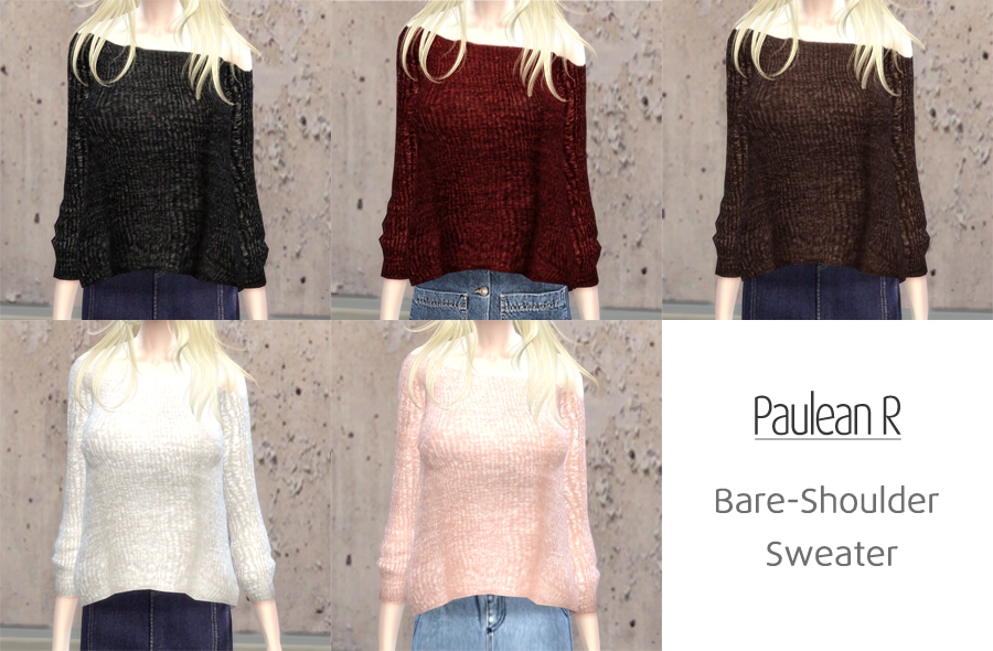 Bare Shoulder Sweater for Females by PauleanR