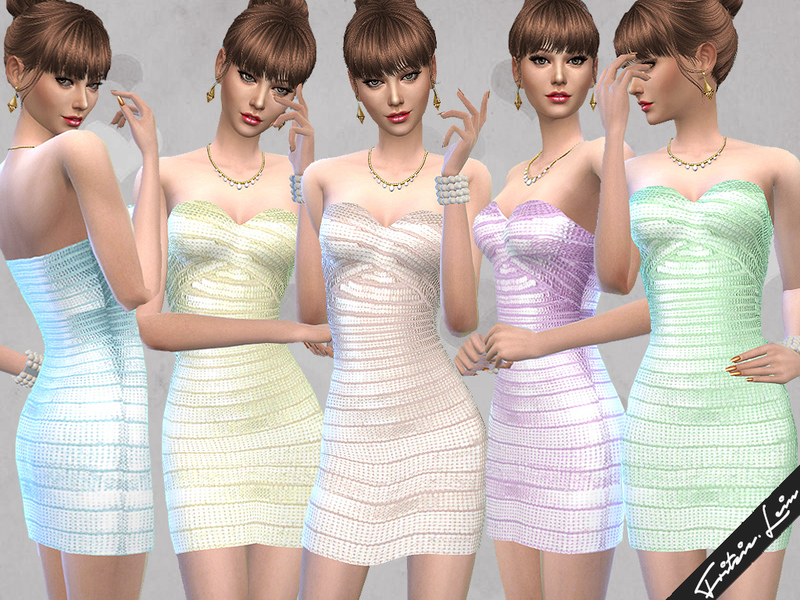 Shimmering Bandage Dress  BY Fritzie.Lein