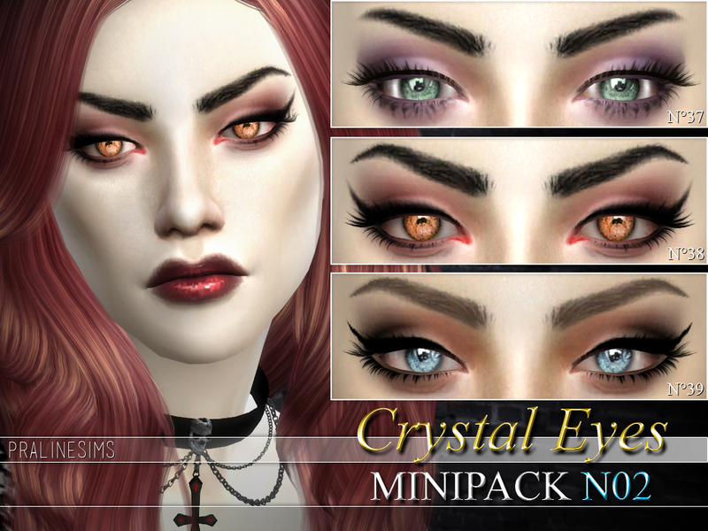Crystal Eyes Minipack N02 ~ 3 Eyes BY Pralinesims