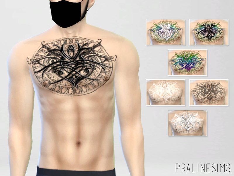 Chest Tattoo N03 BY Pralinesims