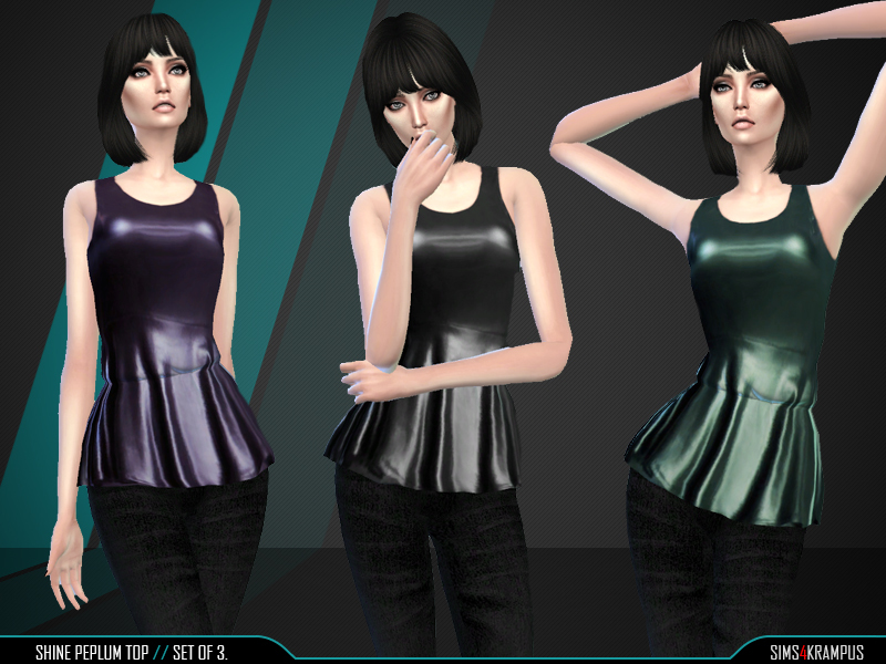 Shine Peplum Top BY SIms4Krampus