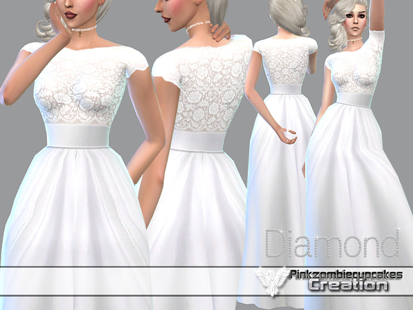 Diamond Wedding Gown by Pinkzombiecupcakes