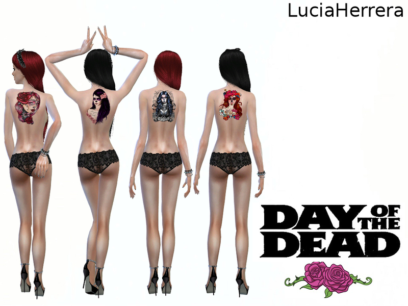 [LuciaHerrera] Tattoos Day of the Dead