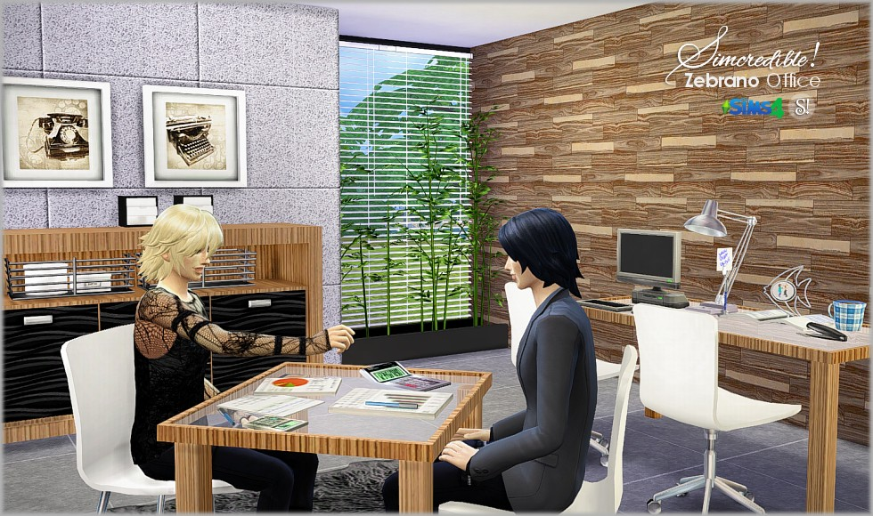 Zebrano Office Set by Simcredible Designs