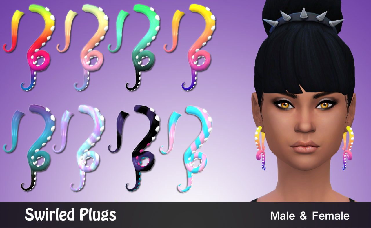 Swirled Plugs for Males & Females by ToviSims